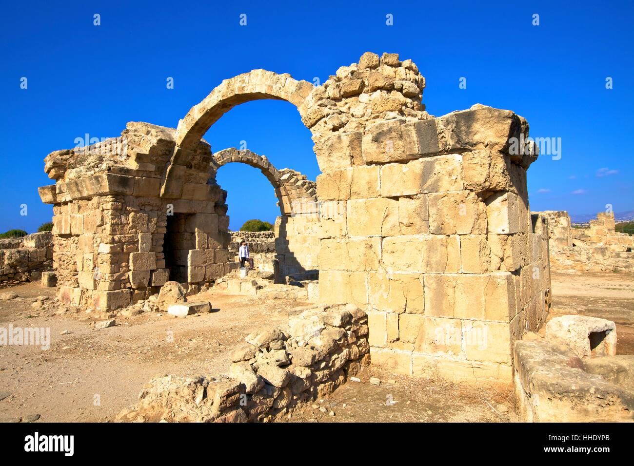Saranda Kolones, Kato Paphos Archaeological Park, UNESCO, Paphos, Cyprus, Eastern Mediterranean - Stock Image