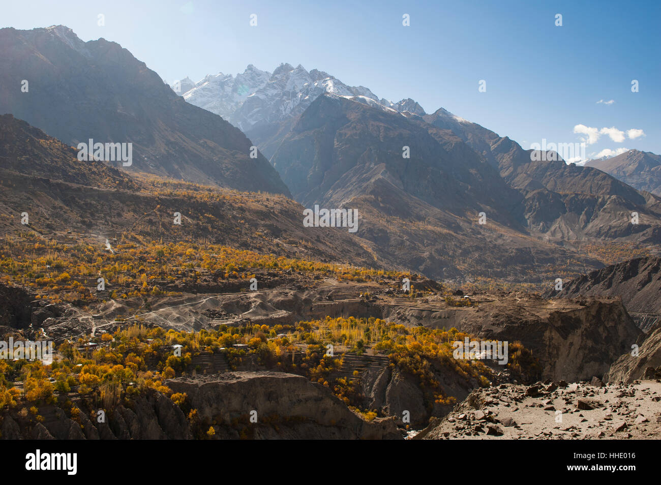 Dramatic Himalayas landscape in the Skardu valley, Gilgit-Baltistan, Pakistan - Stock Image