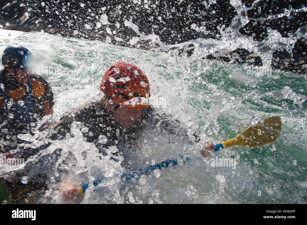 A rafting expedition down the Karnali River, west Nepal - Stock Image