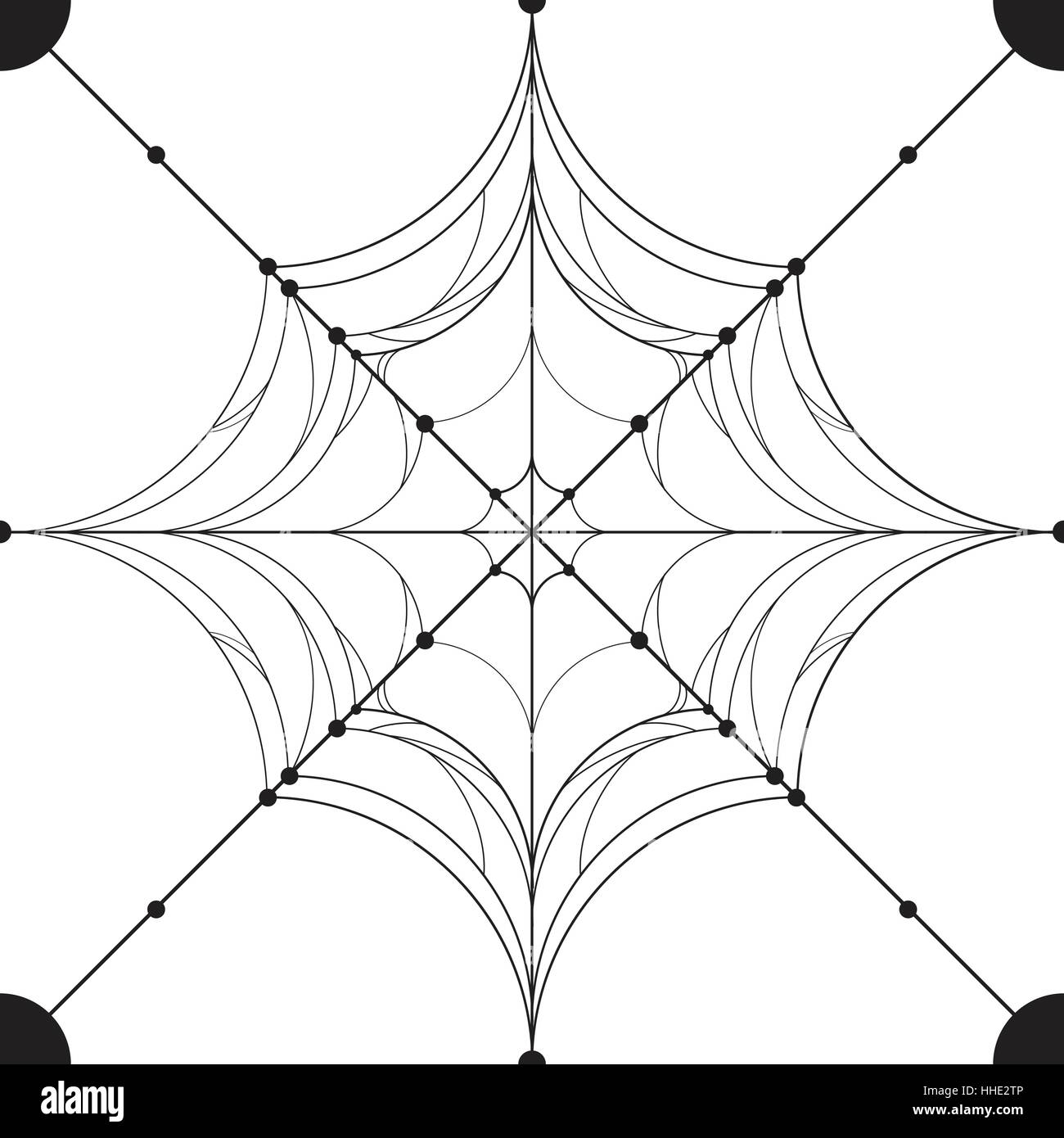 spirder web use for pattern and background isolated on white stock