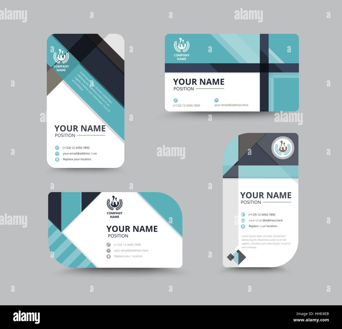 Business greeting card template design introduce card include business greeting card template design introduce card include sample text position vector illustration design m4hsunfo