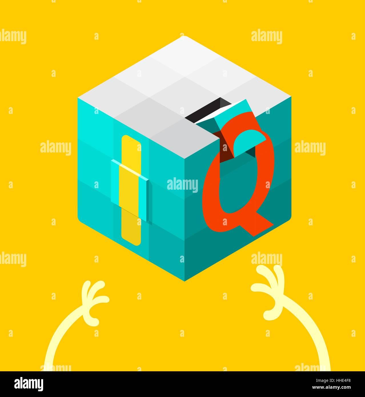 Intelligence quotient (IQ) test concept. vector illustration. - Stock Image