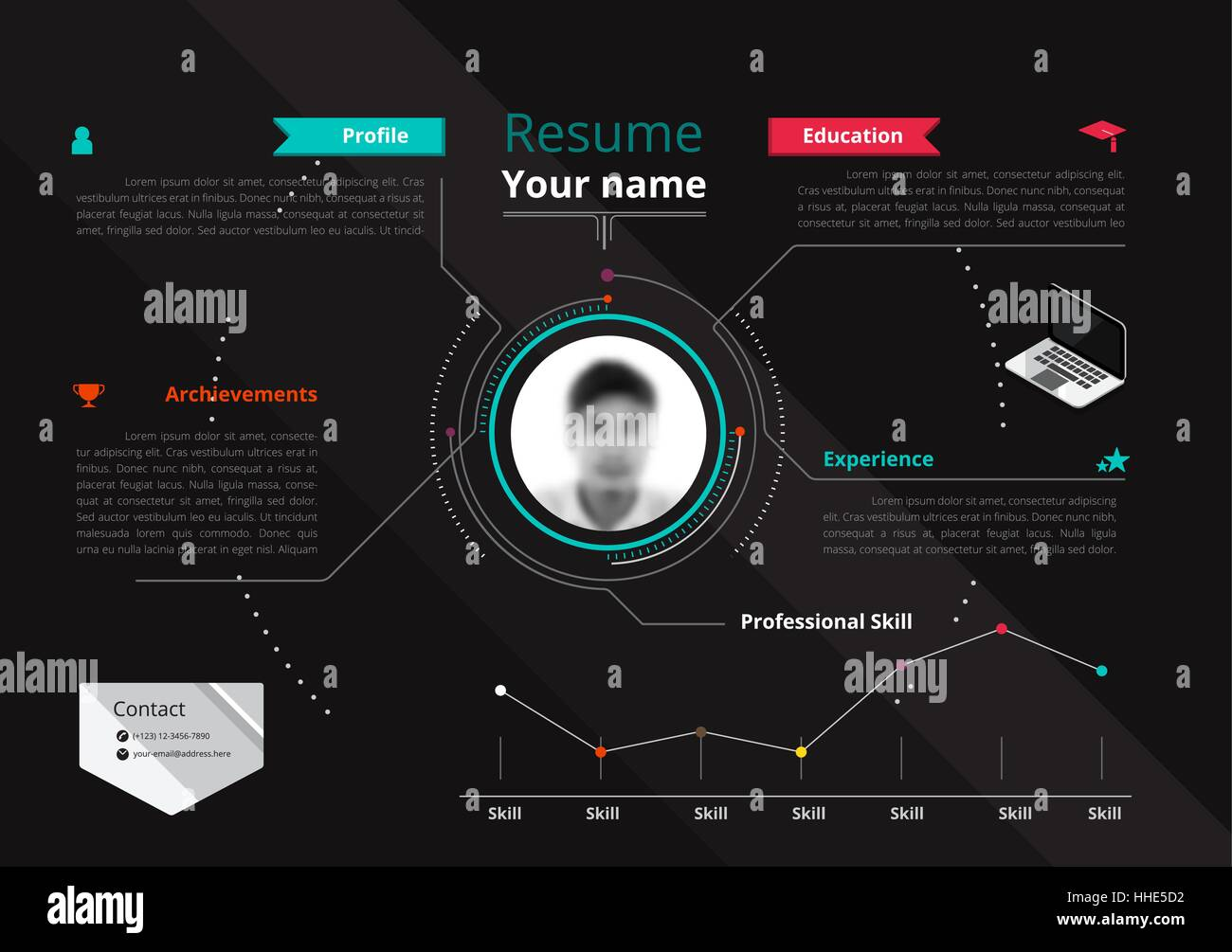Vector Original Minimalist Cv  Resume Template  Creative Version