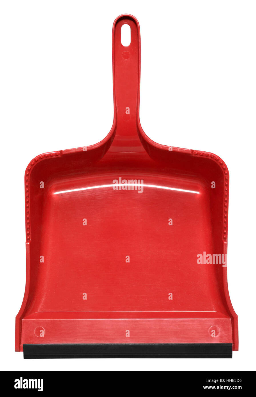 red dustpan Stock Photo
