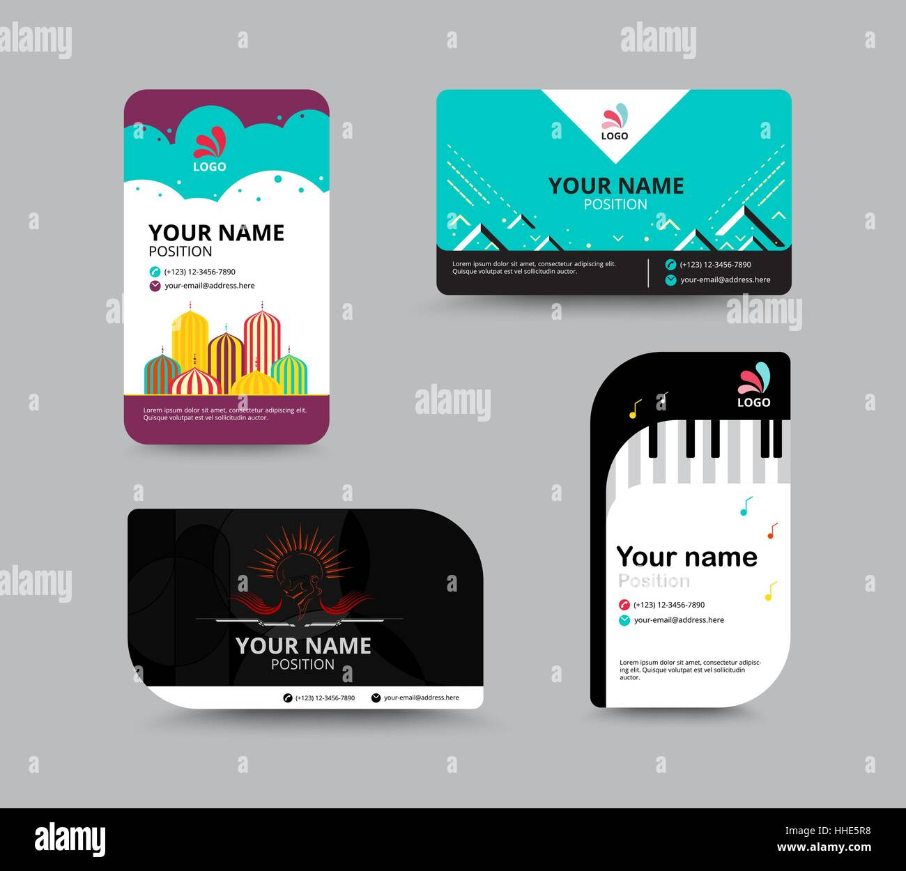 Business card template, business card layout design, vector Stock ...