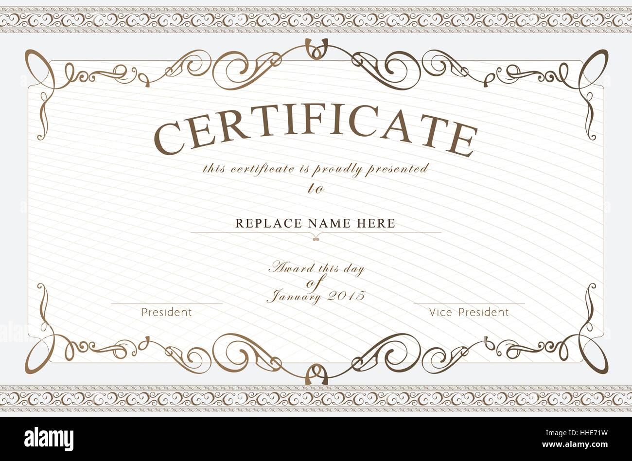 Certificate Border Certificate Template Vector Illustration Stock