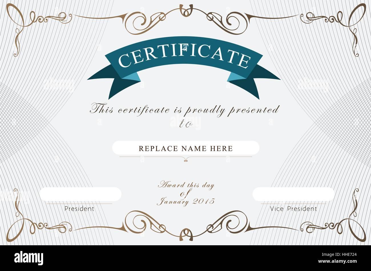 Certificate border, Certificate template. vector illustration Stock ...