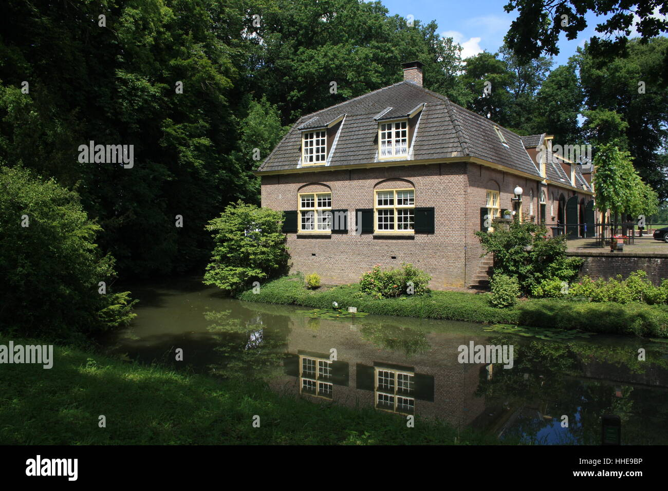 house, building, garden, holland, cottage, country, water, house, building, - Stock Image