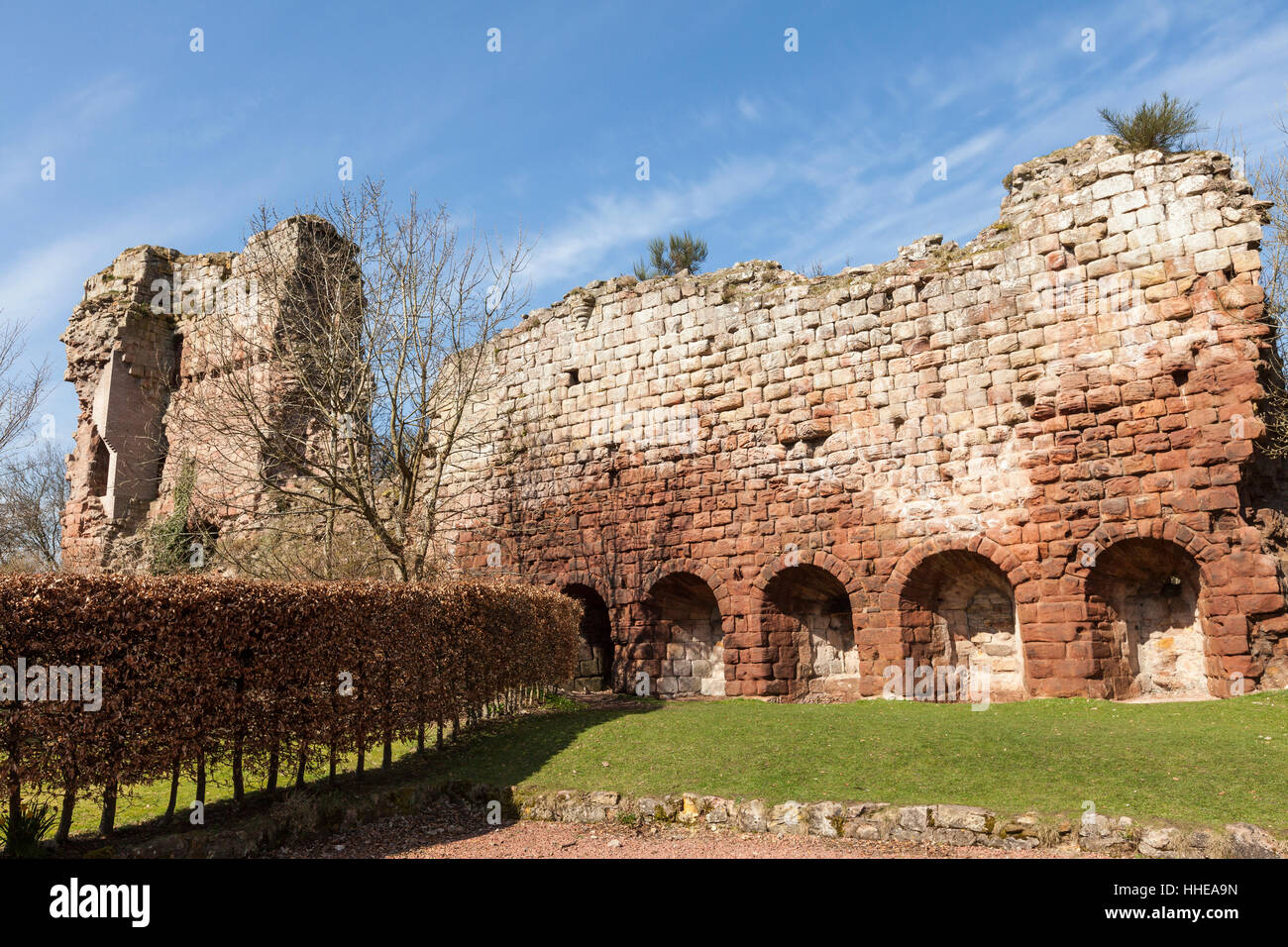 Rosslyn Castle Ruins at Roslin in Scotland. - Stock Image