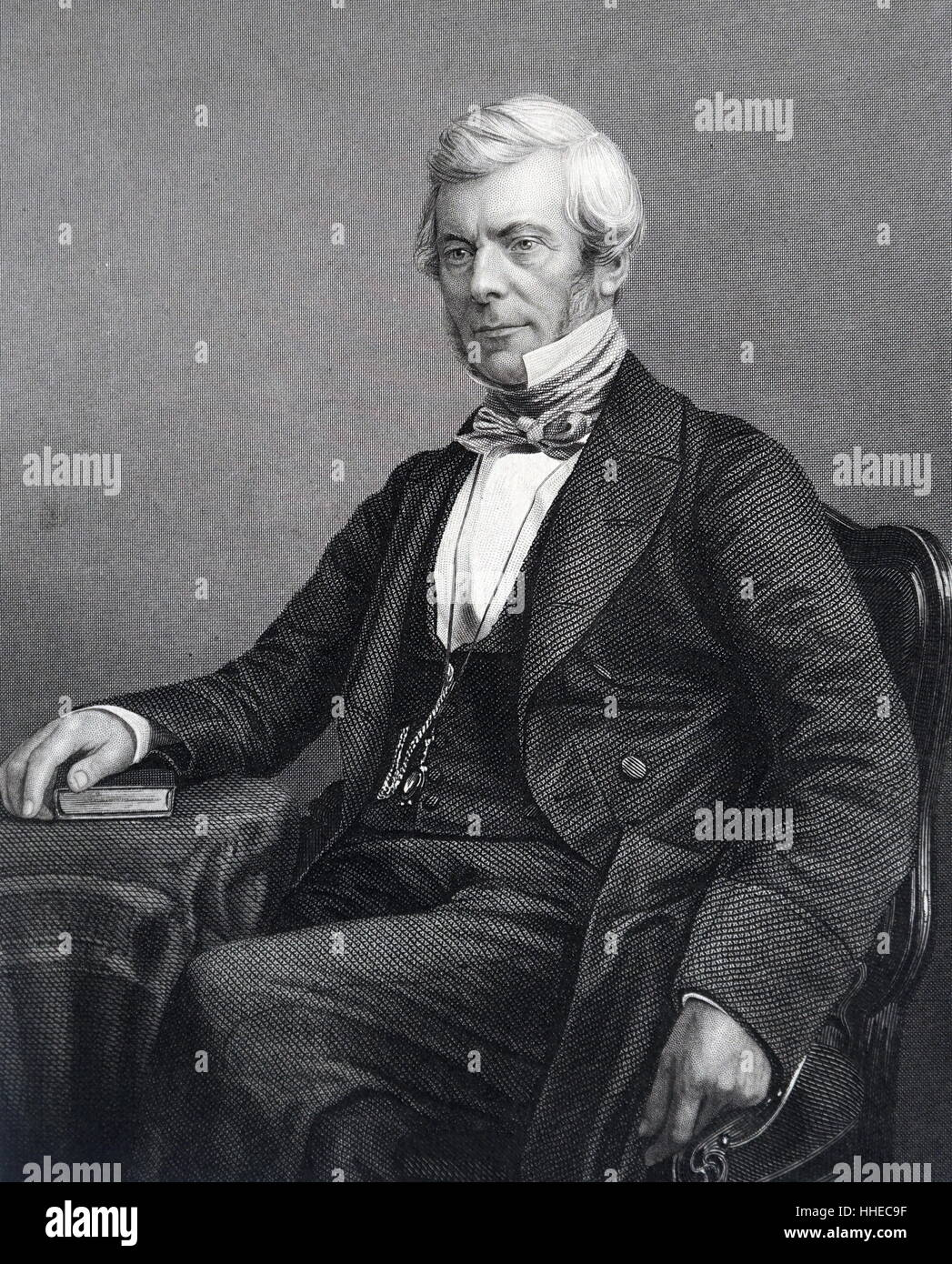 William Chambers of Glenormiston or William Chambers (1800 – 1883). Scottish publisher and politician - Stock Image