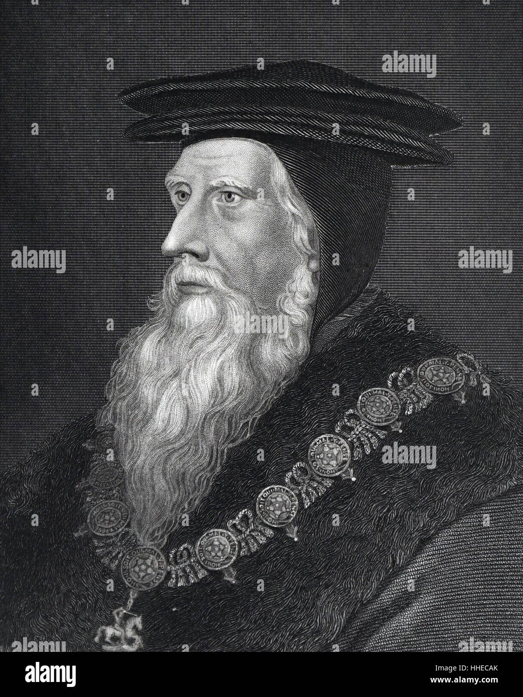 John Russell, 1st Earl of Bedford (cl486-1555); English statesman - Stock Image