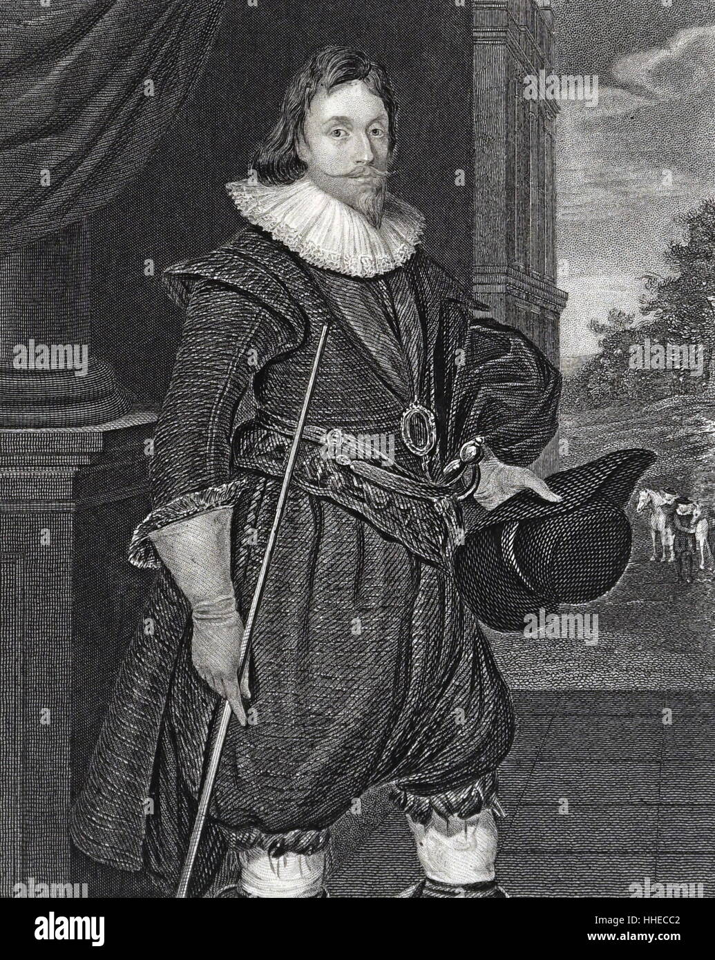 James, 2nd Marquis of Hamilton (1589-1625); Scottish nobleman - Stock Image