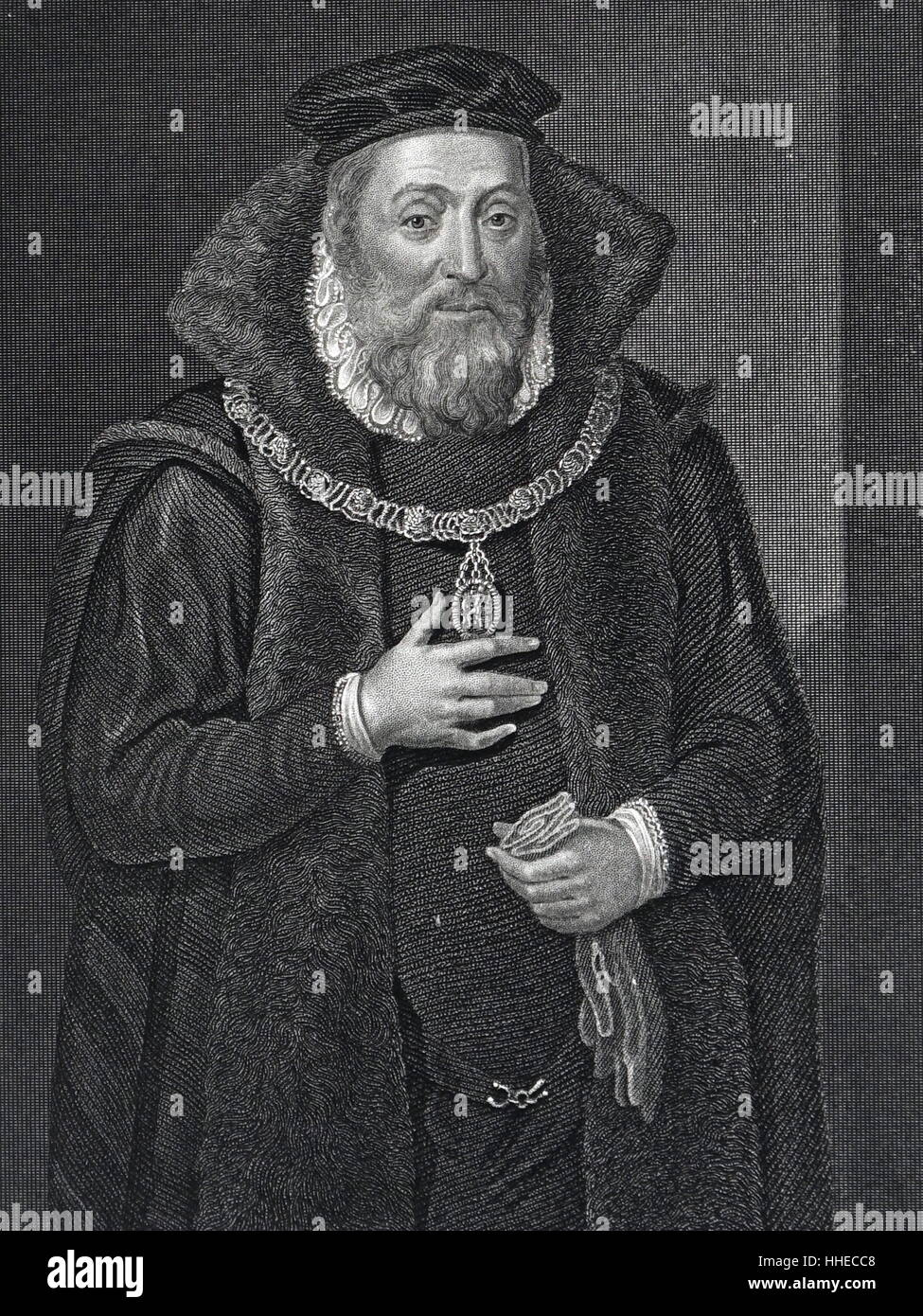 James Hamilton, 2nd Earl of Arran and Duke of Chatelherault (d?1575). Scottish statesman - Stock Image