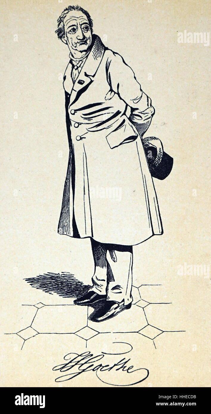 Johann Wolfgang von Goethe (1749 – 22 March 1832), German writer and statesman Stock Photo