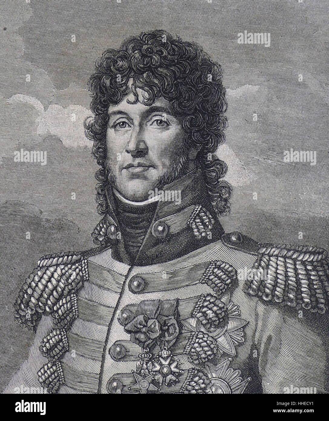 Joachim Murat (1767-1815). French soldier king of Naples 1808; - Stock Image