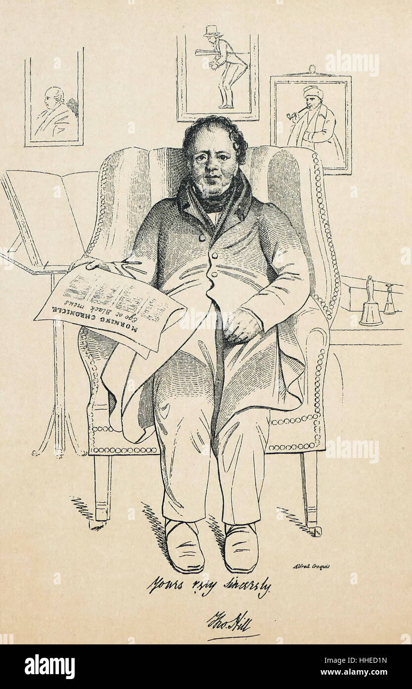 Thomas Hill 1760-1840. English book collector and patron. From a print originally published between 1830 and 1838 - Stock Image