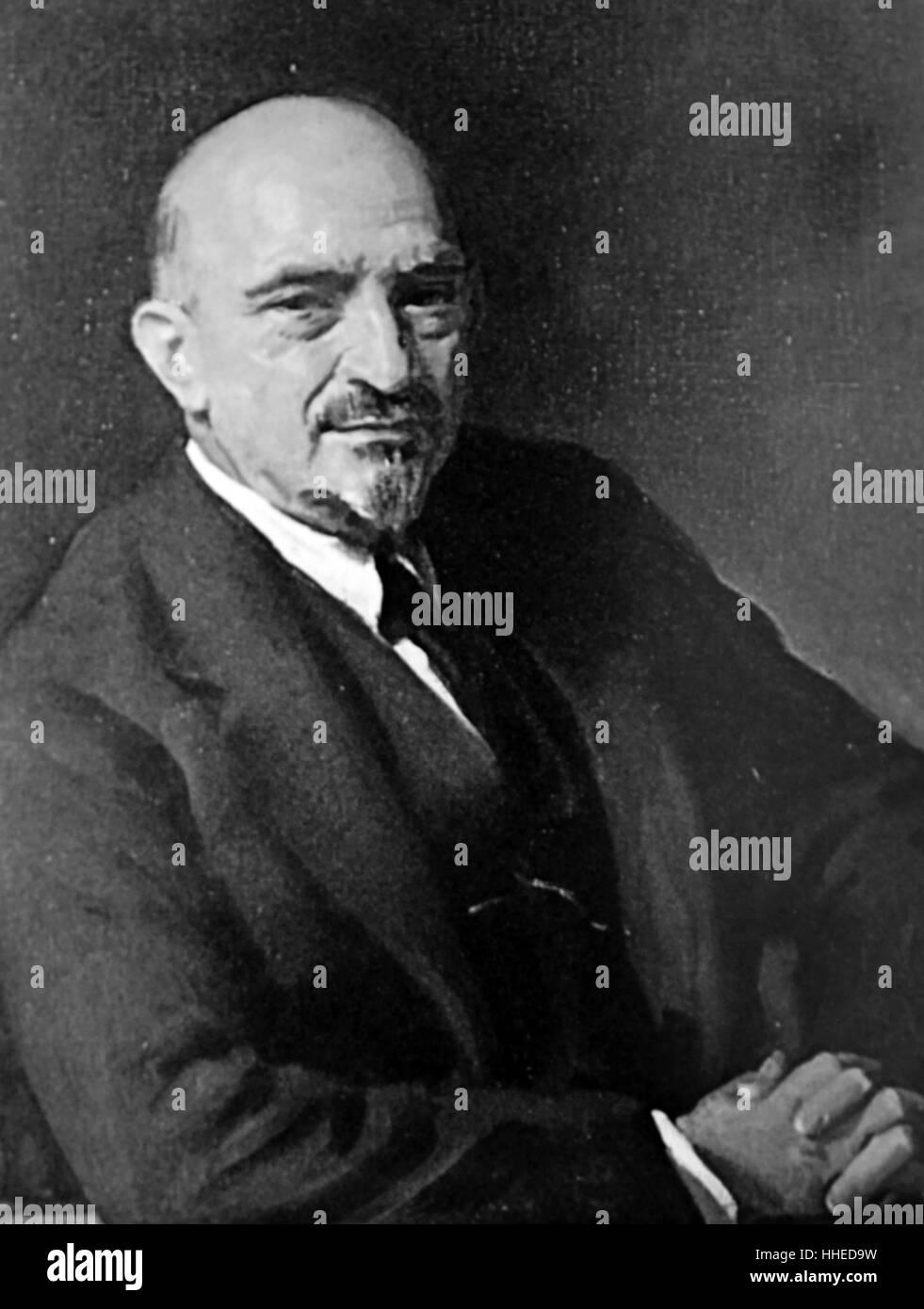 Chaim Azriel Weizmann (1874 – 1952) Zionist leader and Israeli statesman - Stock Image