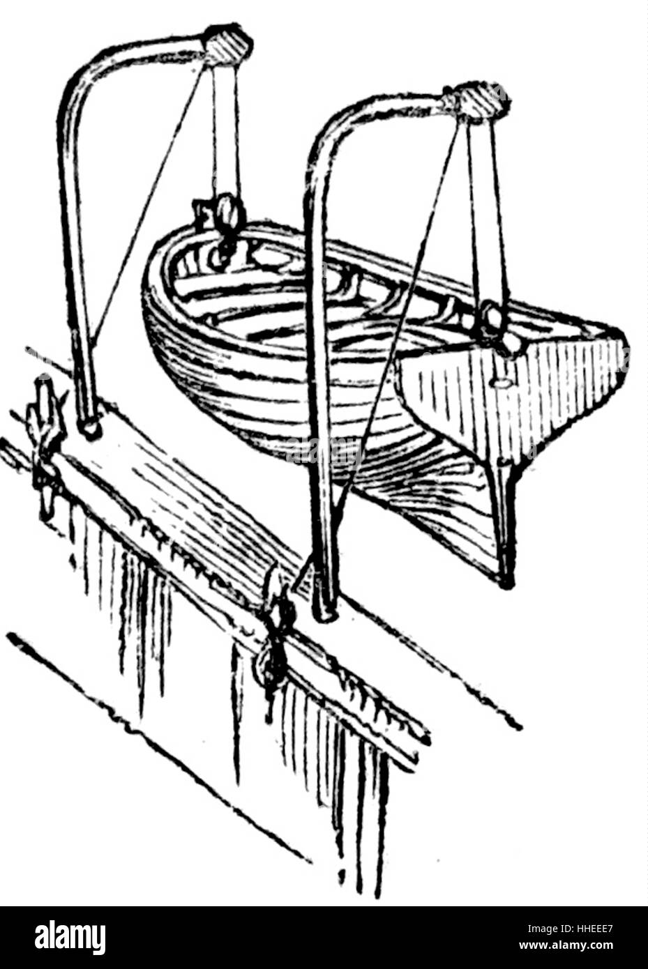 Engraving Of A Lifeboat Dated 19th Century Stock Photo 131240431