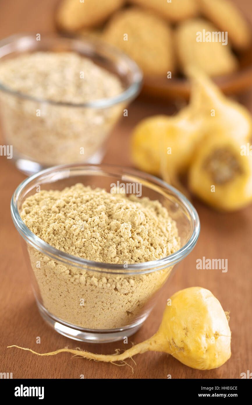 powder, aphrodesiac, plant, food, aliment, root, vegetable, tuber, raw, Stock Photo