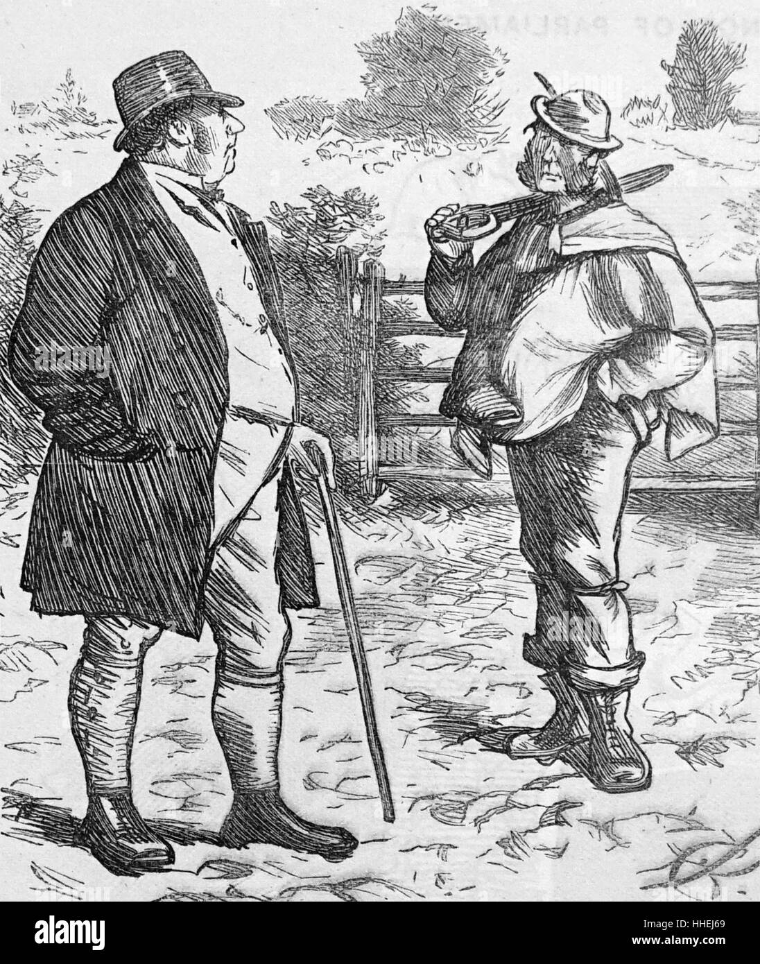Engraving depicting typical fashion of the 19th Century - Stock Image