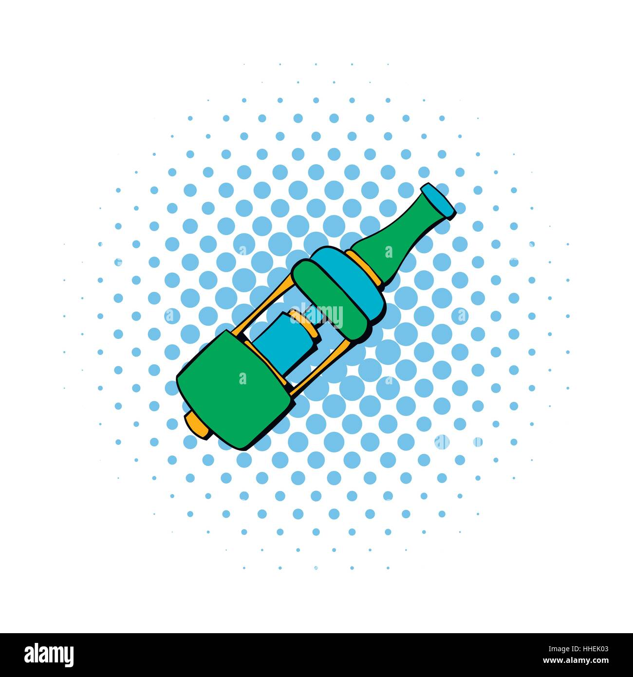 Electronic cigarette mouthpiece icon, comics style - Stock Image
