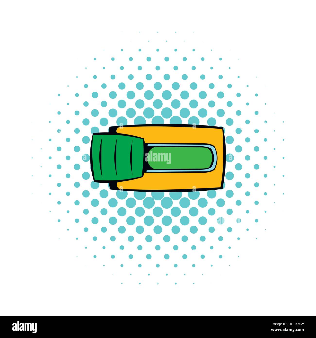 Toggle switch in Yes position icon, comics style - Stock Image