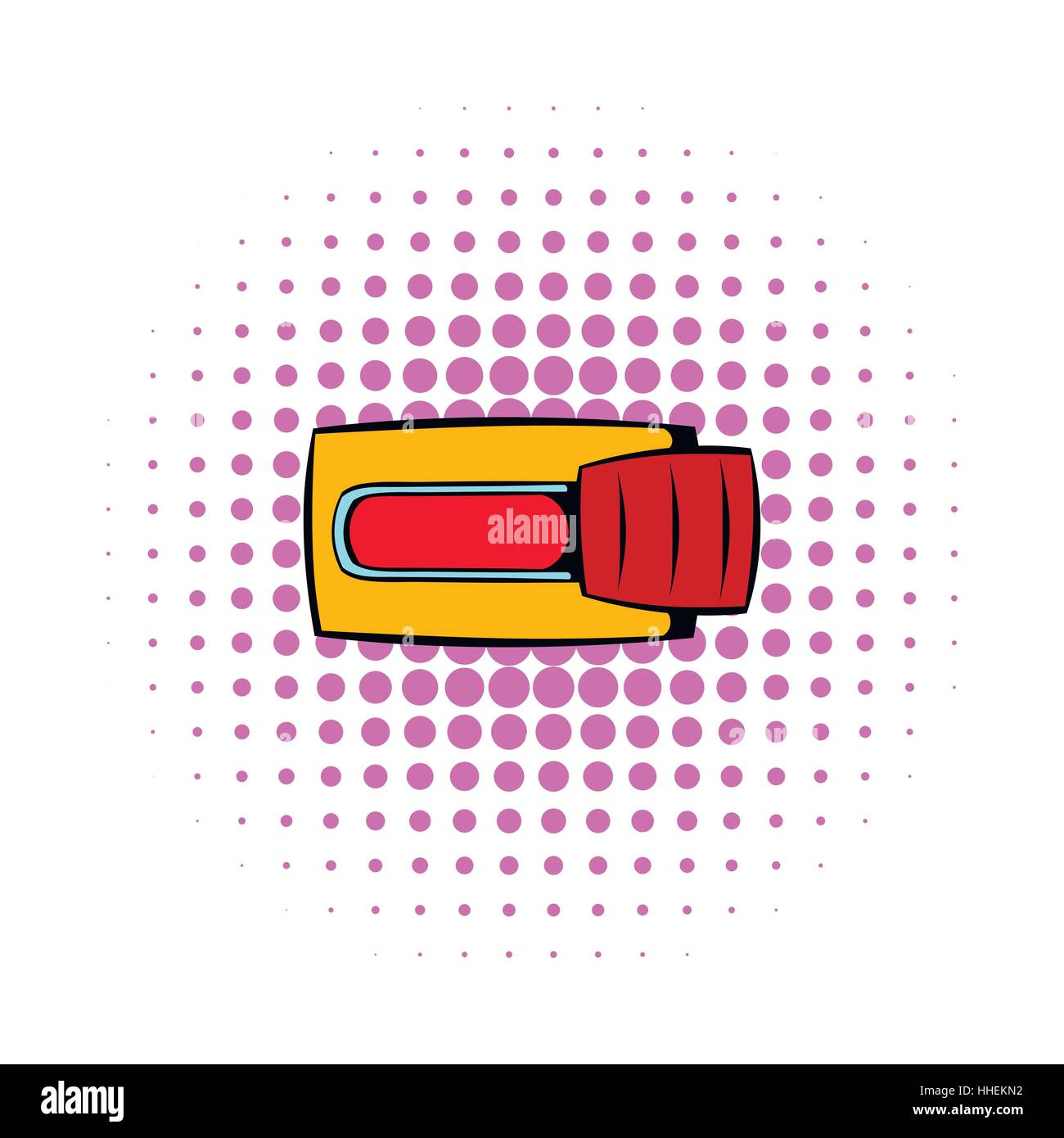 Toggle switch in No position icon, comics style - Stock Image