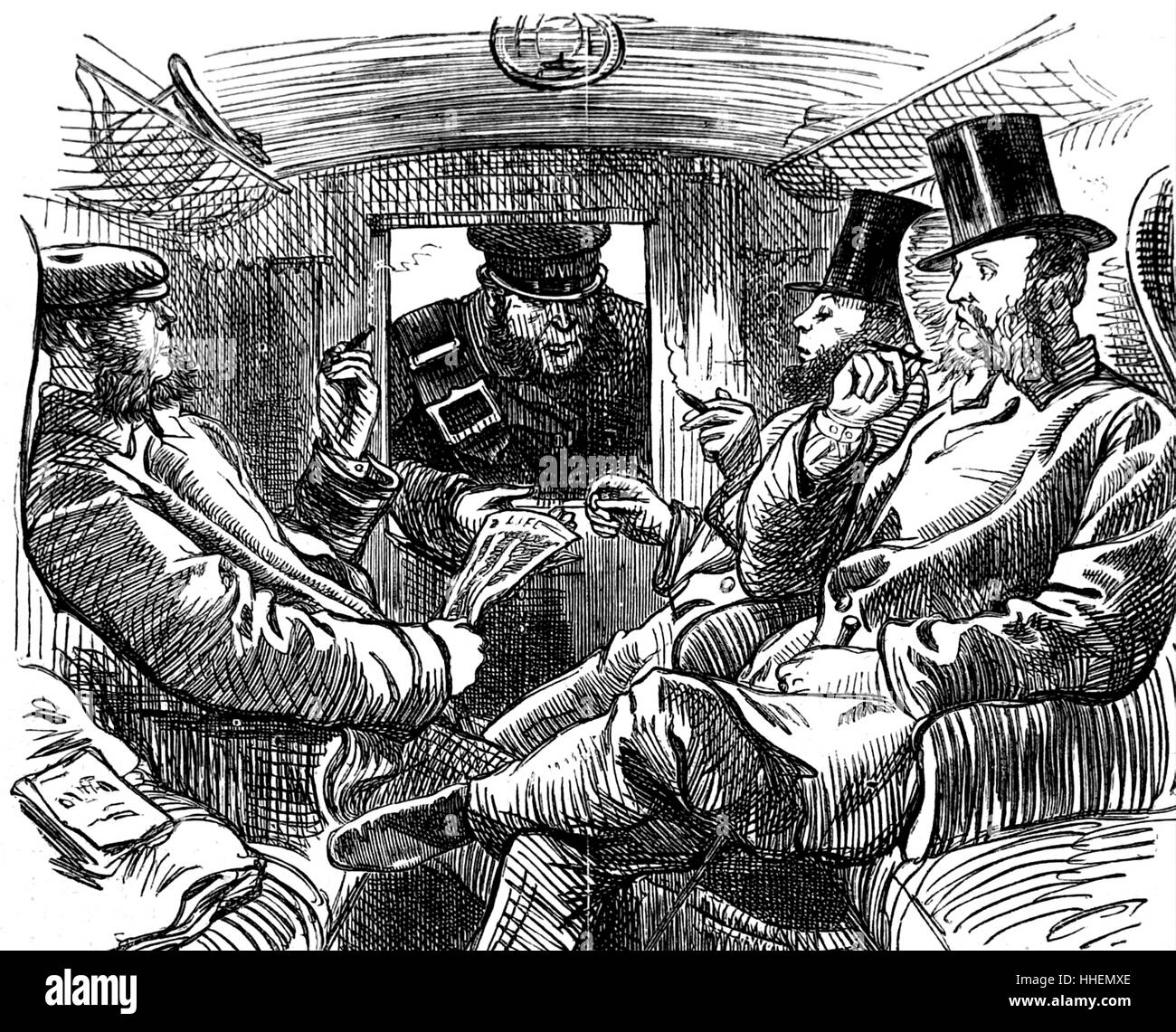 https://c8.alamy.com/comp/HHEMXE/illustration-depicting-a-conductor-collecting-tickets-from-first-class-HHEMXE.jpg