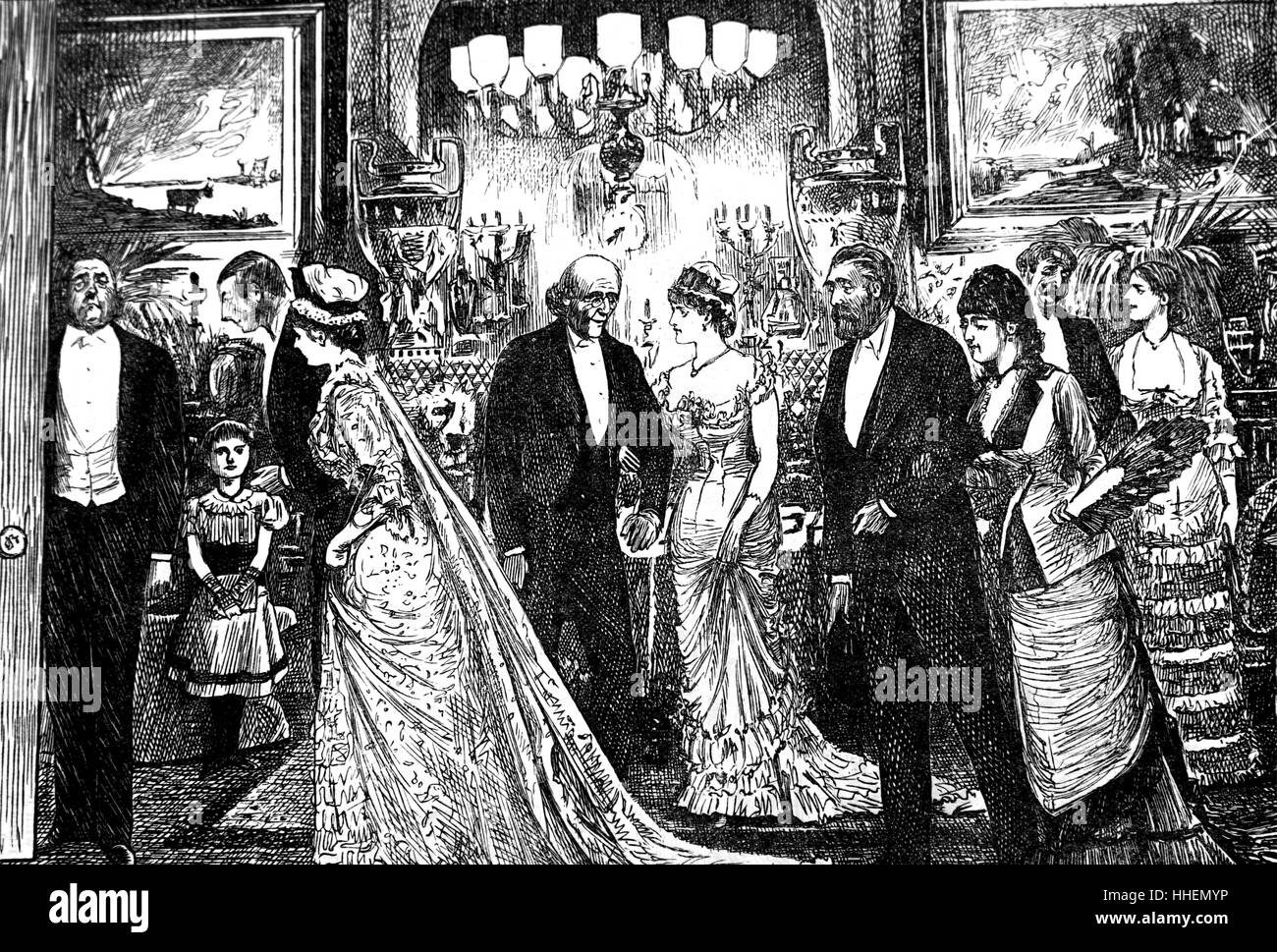 Illustration by George du Maurier - Stock Image