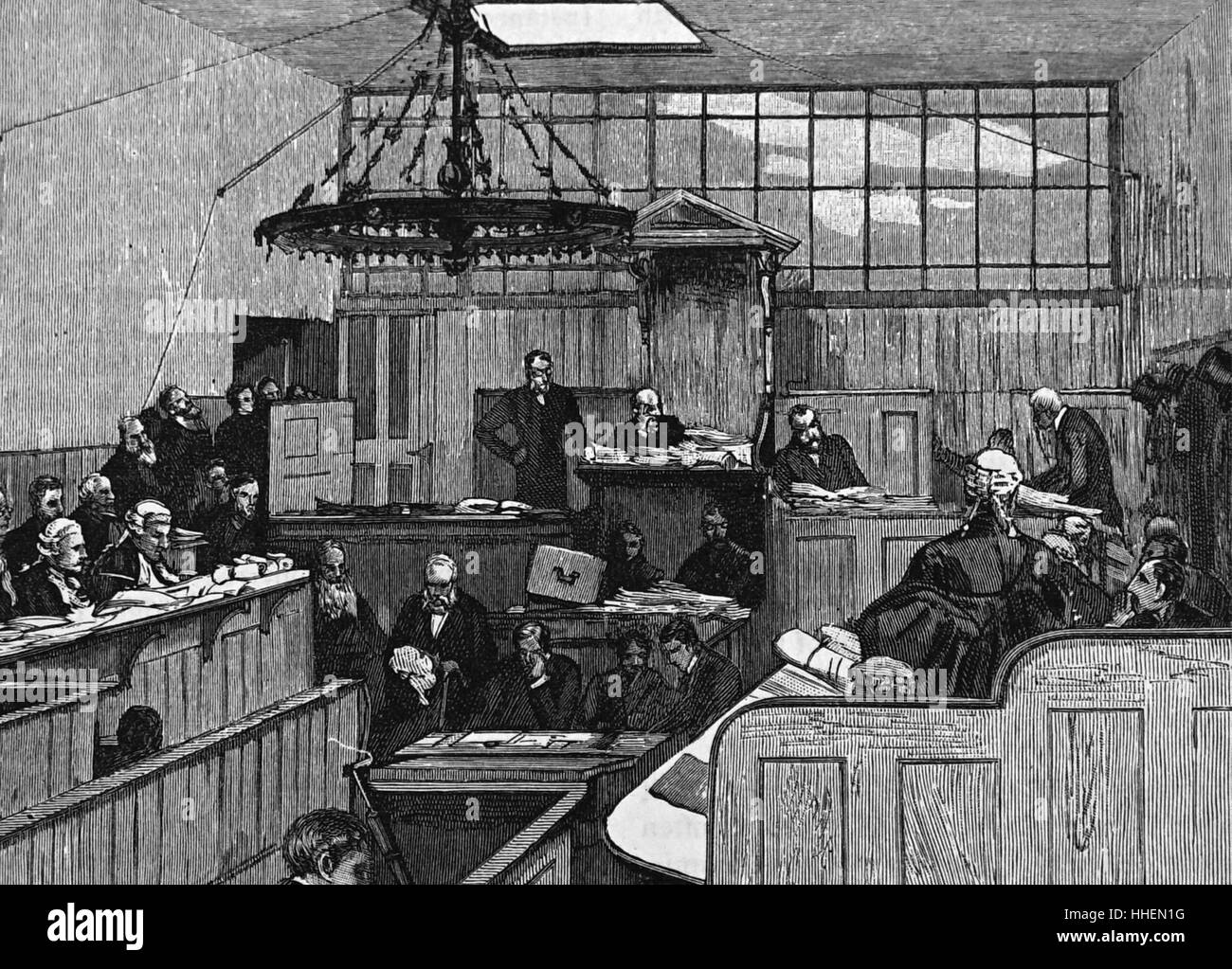 Illustration of the Royal Commission on the Metropolitan Board of Works - Stock Image