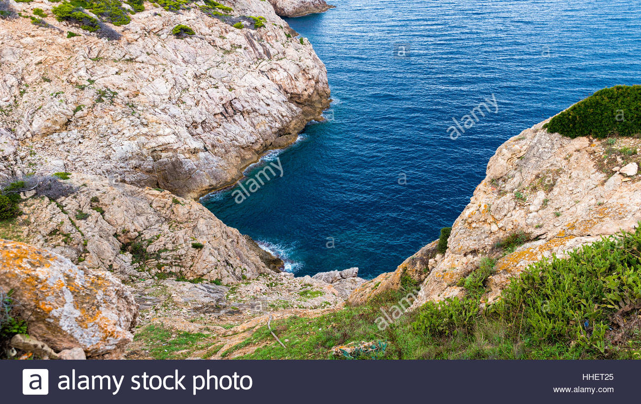 Stones and beauty, this is Mallorca. This view is located near Mirador Es Colomer. - Stock Image