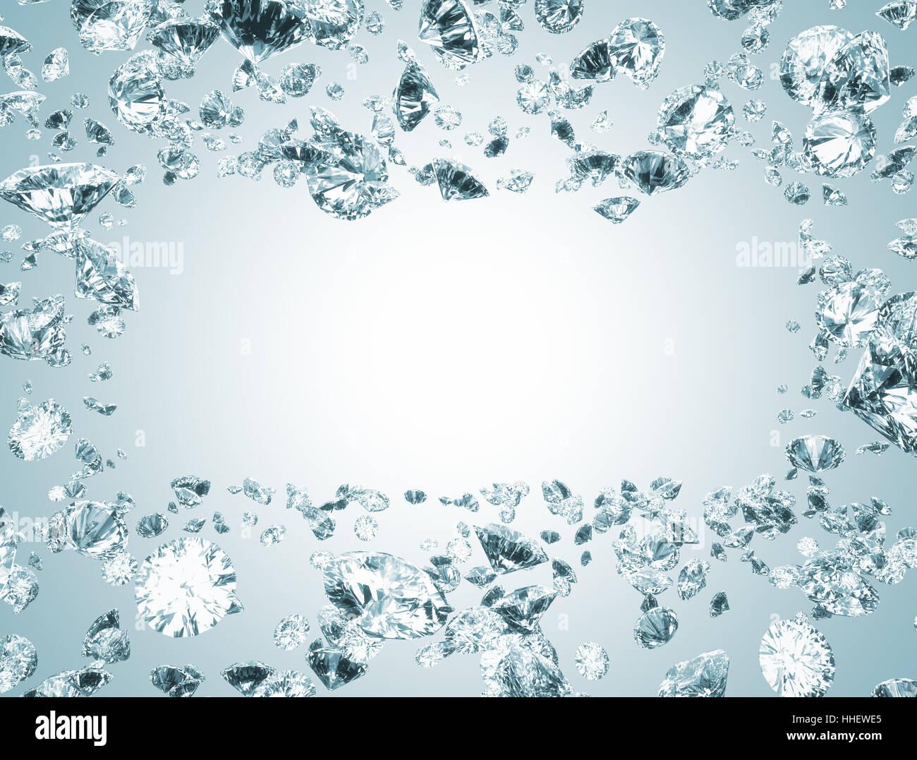 blue, stone, jewel, diamond, frame, backdrop, background, framework ...