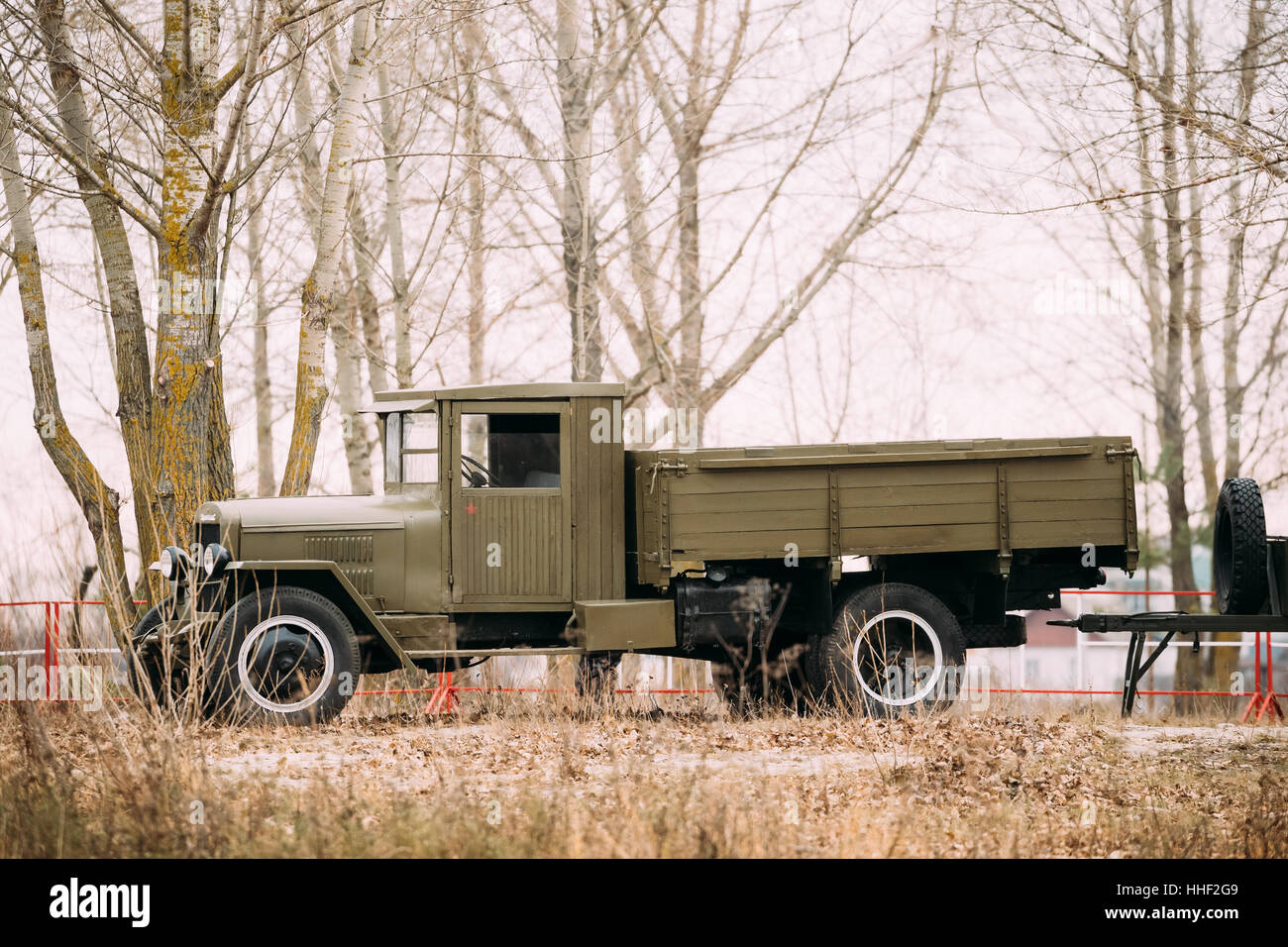 Old Soviet Russian Truck In Stock Photos & Old Soviet Russian Truck on