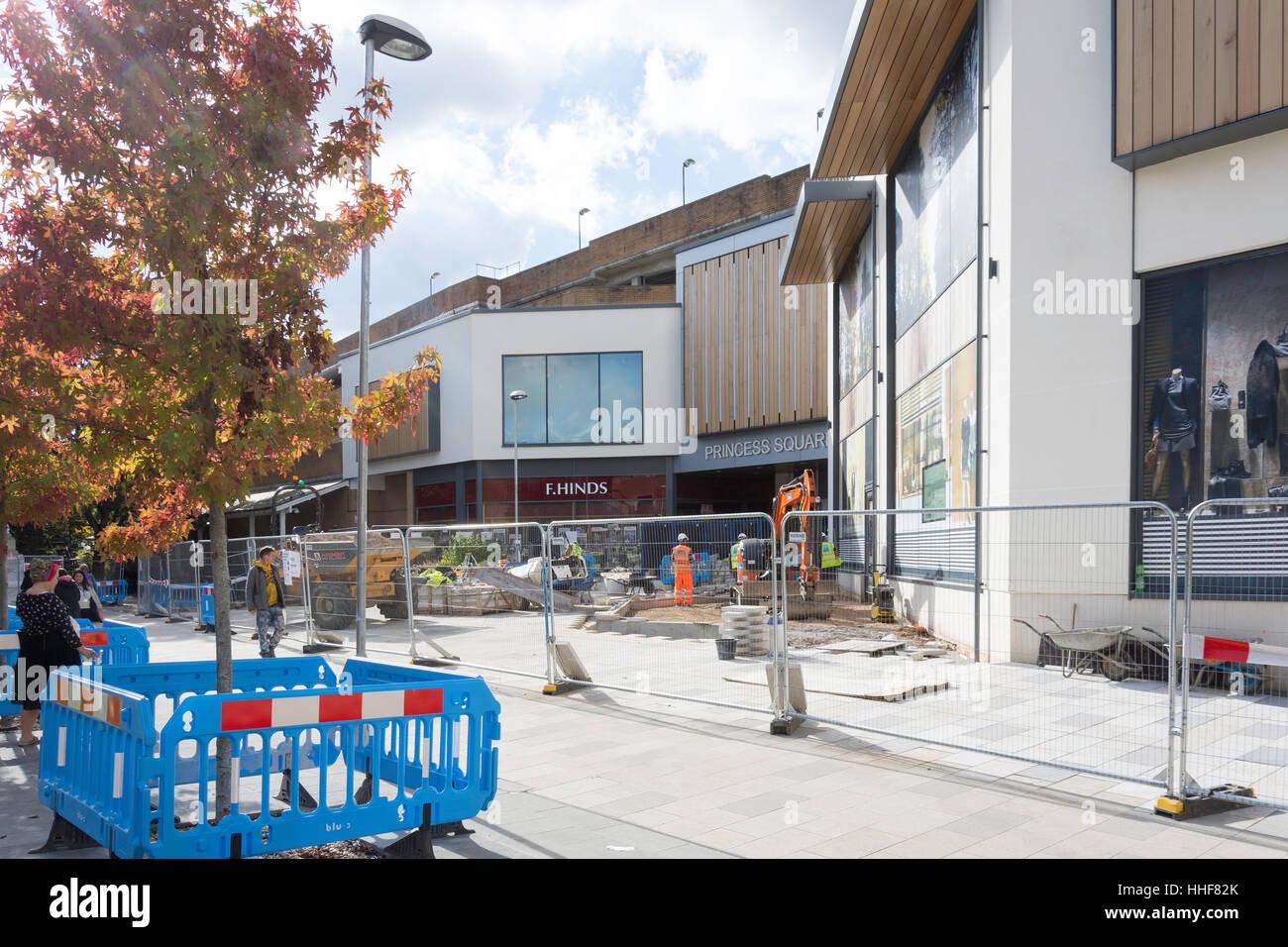Town centre regeneration, Bracknell, Berkshire, England, United Kingdom - Stock Image