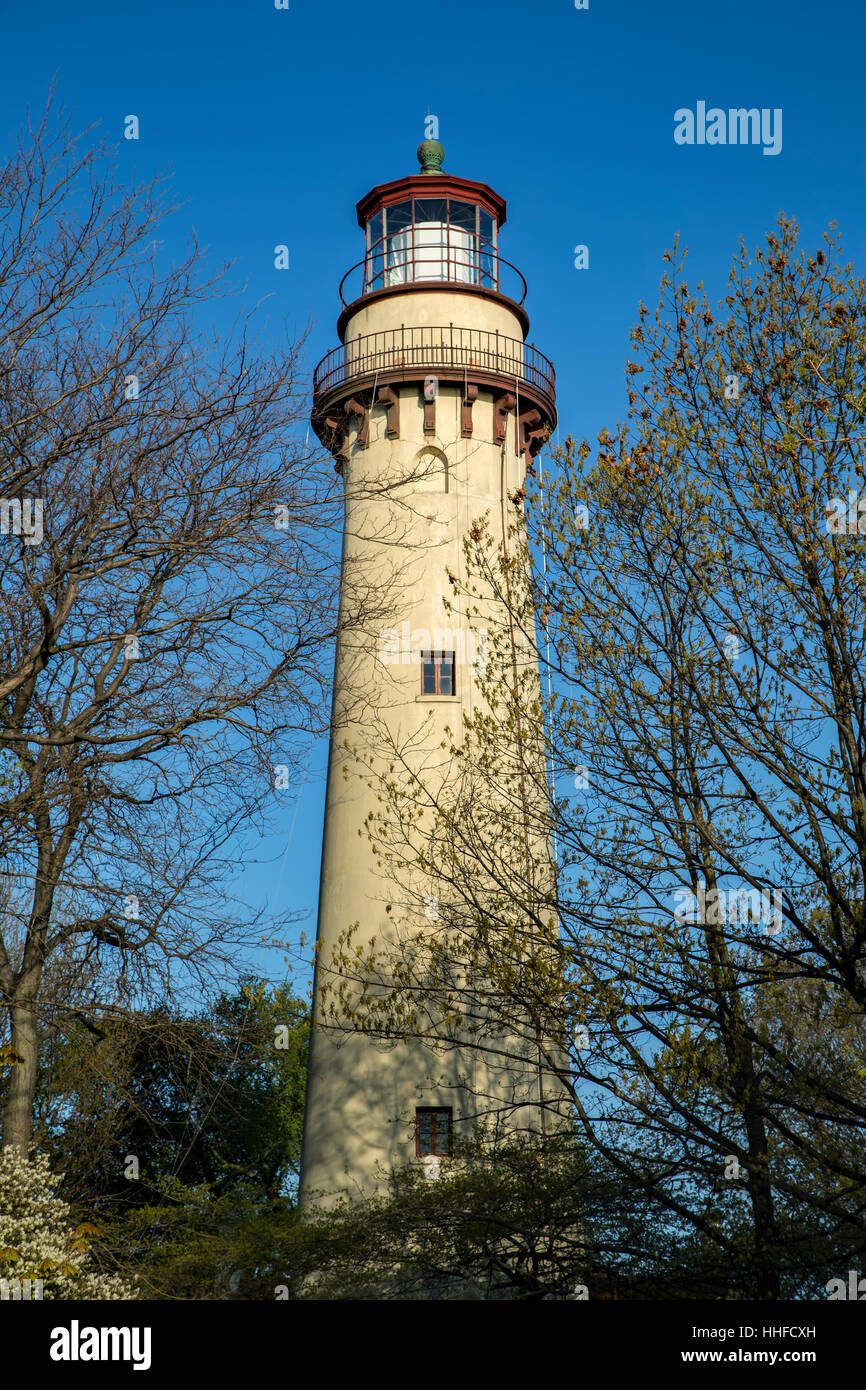 Grosse Point Light Station, Evanston (near Chicago), Illinois USA - Stock Image