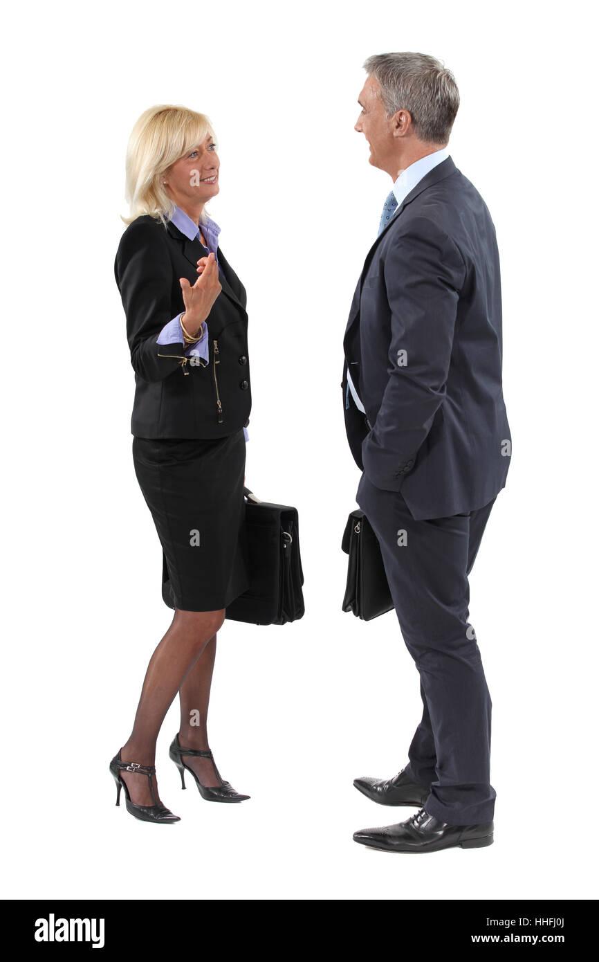 career, briefcase, business man, businessman, businesswoman, career woman, - Stock Image