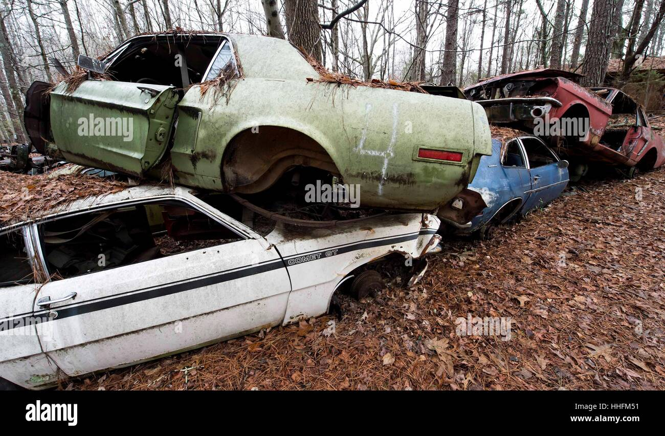 White, USA. 18th Jan, 2017. Old Car City USA, a classic car junkyard ...