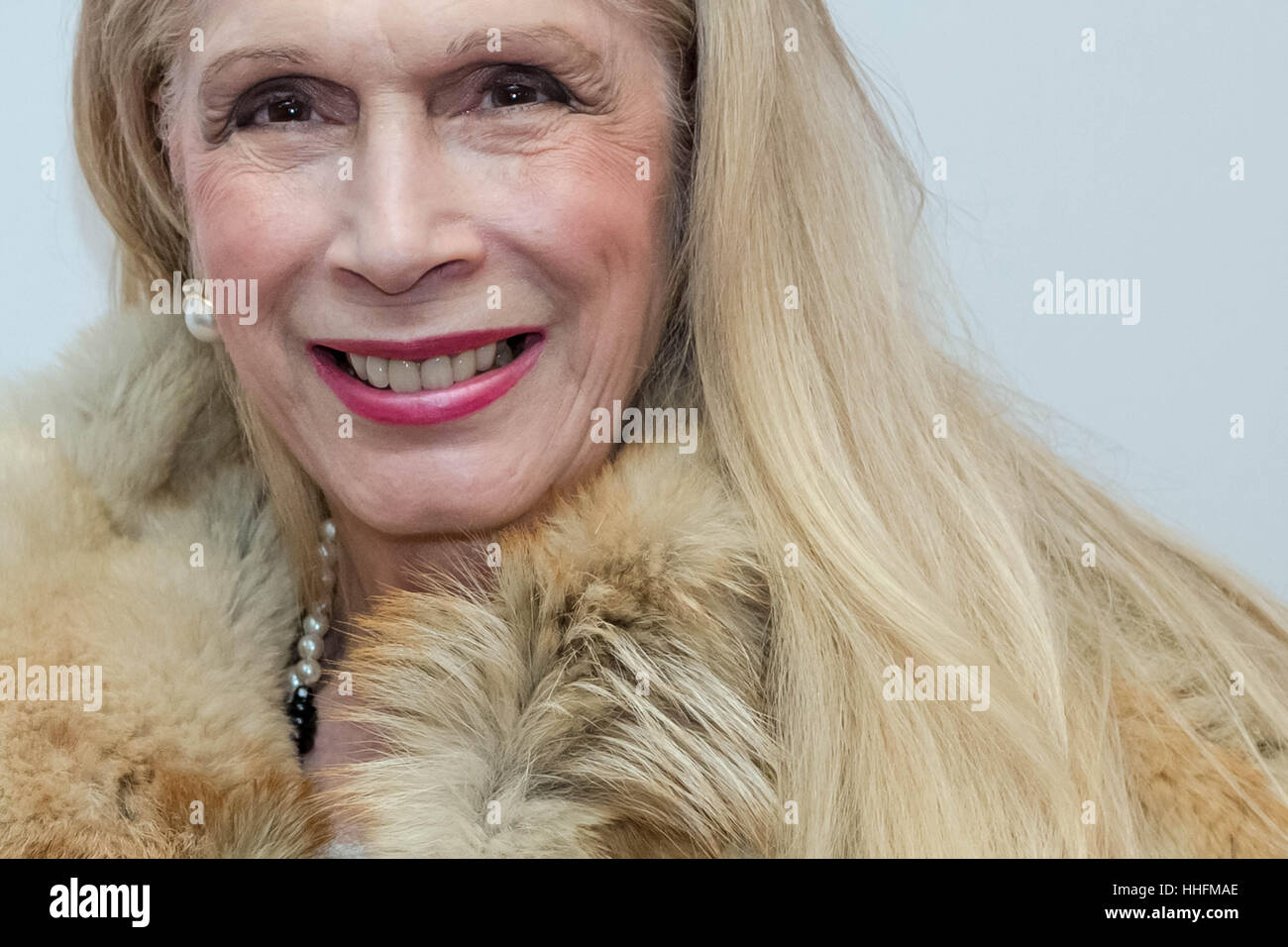 London, UK. 18th January, 2017. Lady Colin Campbell attends the VIP launch of the Magic Lantern Festival at Chiswick - Stock Image