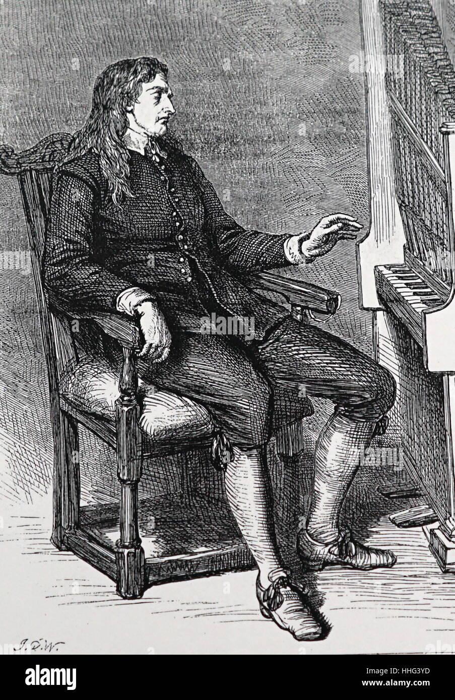Portrait of John Milton - Stock Image