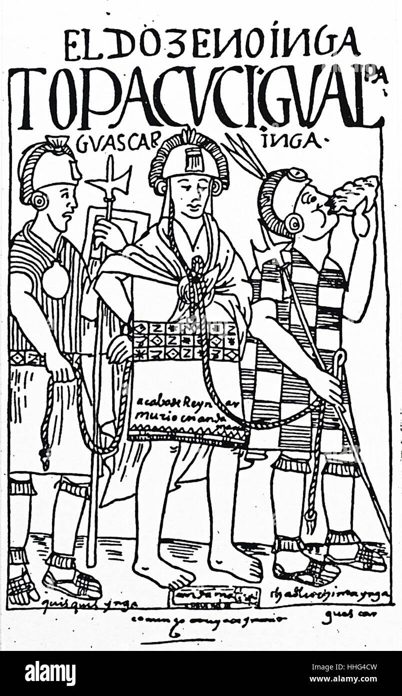 Huascar Inca (1503–1532) was Sapa Inca of the Inca Empire, - Stock Image