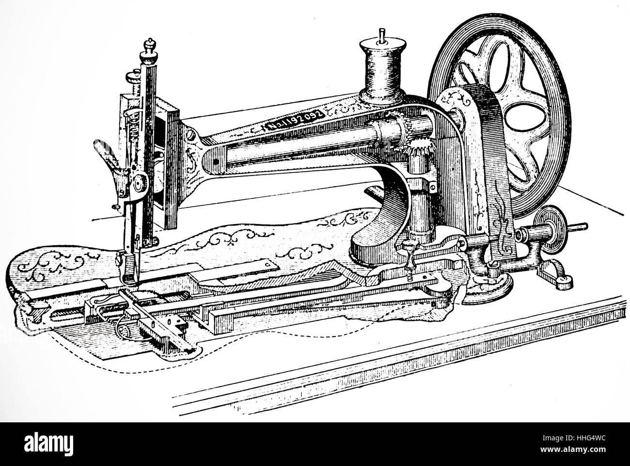 Singer Sewing Machine Black And White Stock Photos Images Alamy Diagram Image