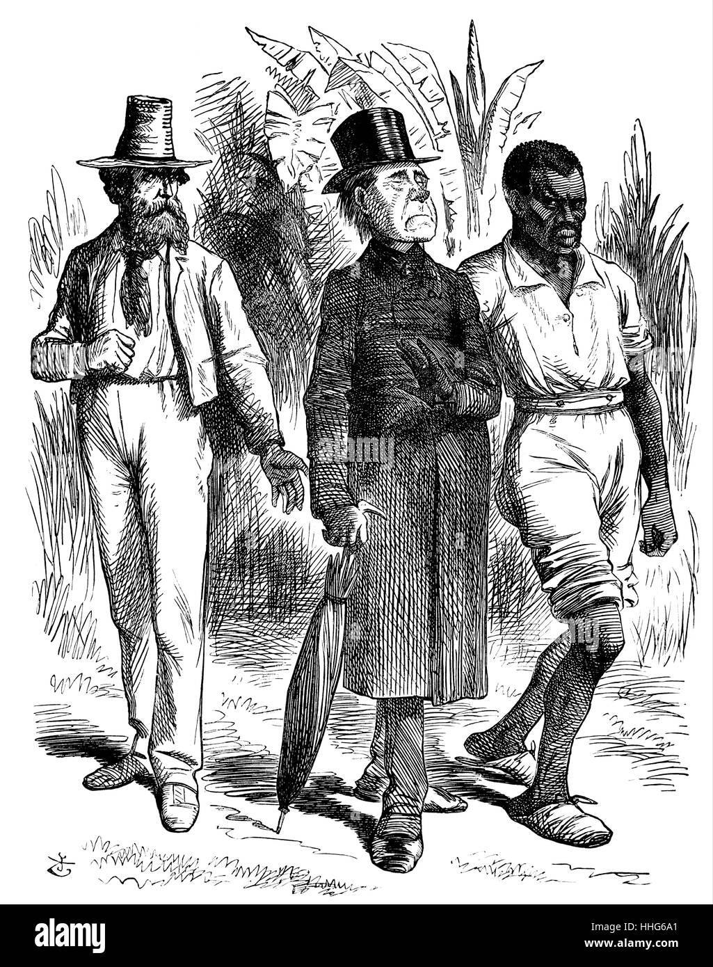 The Jamaica Question. White Planter. 'Am I Not a Man and Brother Too, Mr Stiggins?' - Stock Image