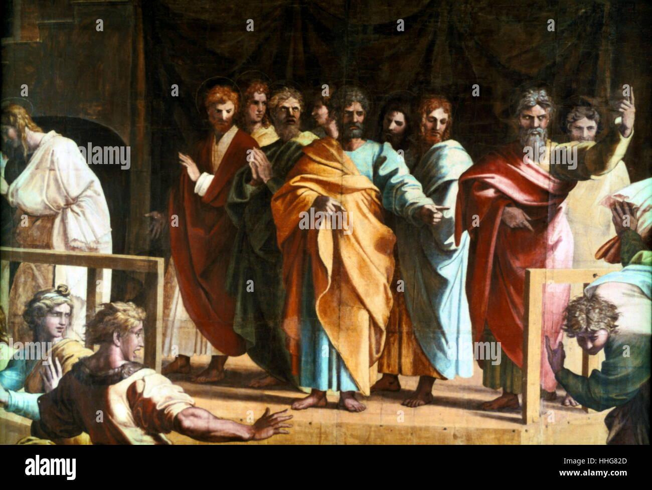 Painting By The Italian High Renaissance Artist Raphael Raffaello Sanzio Da Urbino