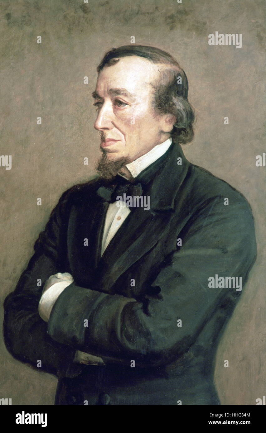 Portrait of the Earl of Beaconsfield, Benjamin Disraeli by Sir John Everett Millais. 1881. Stock Photo