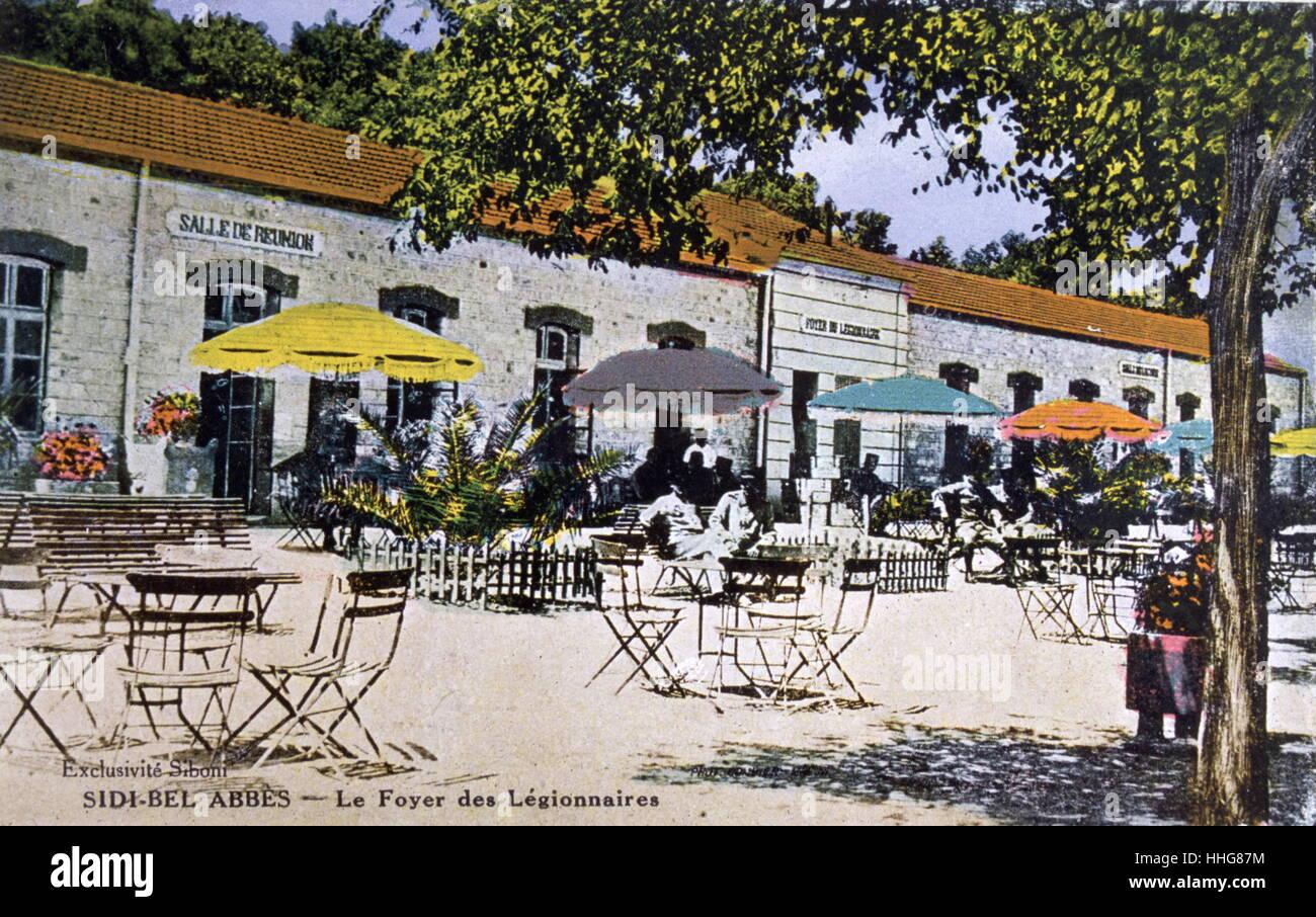 postcard depicting French colonialist settlement in Sidi Bel Abbès, Algeria 1906 - Stock Image