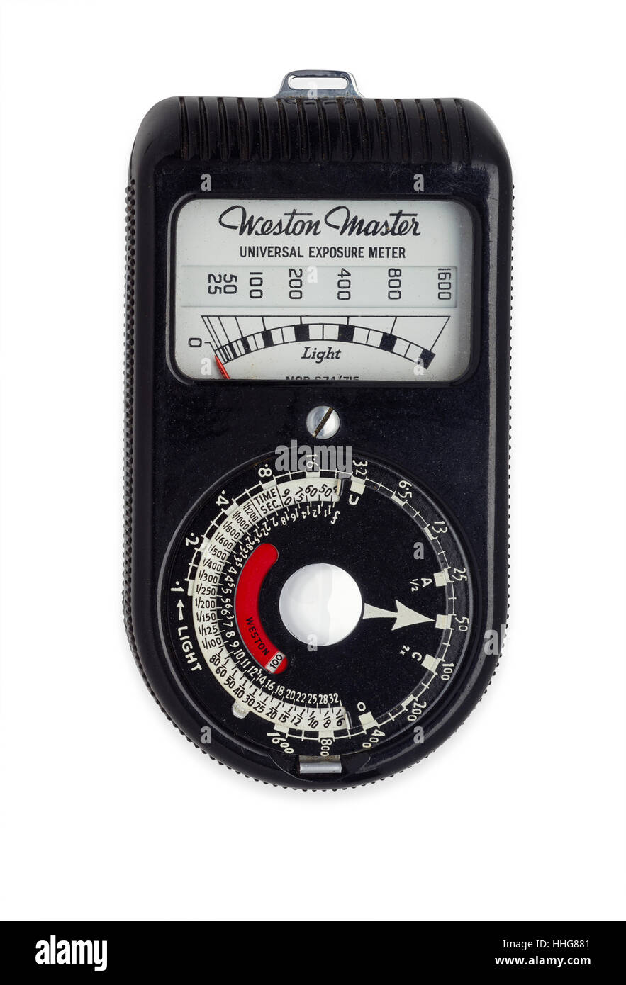 Weston Master 1951 light meter - Stock Image