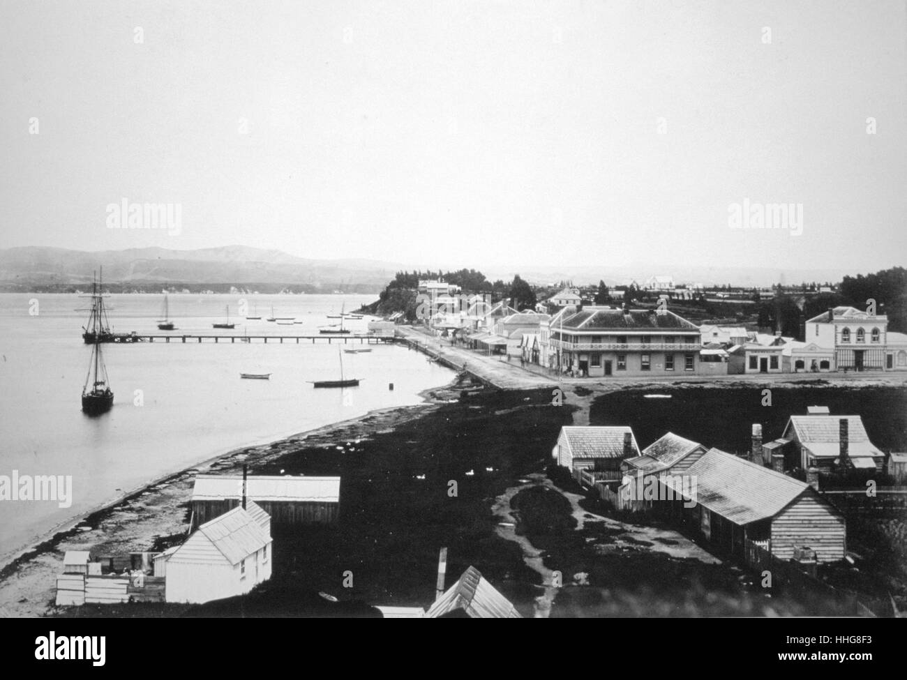 Tauranga is the most populous city in the Bay of Plenty Region of the North Island of New Zealand - Stock Image