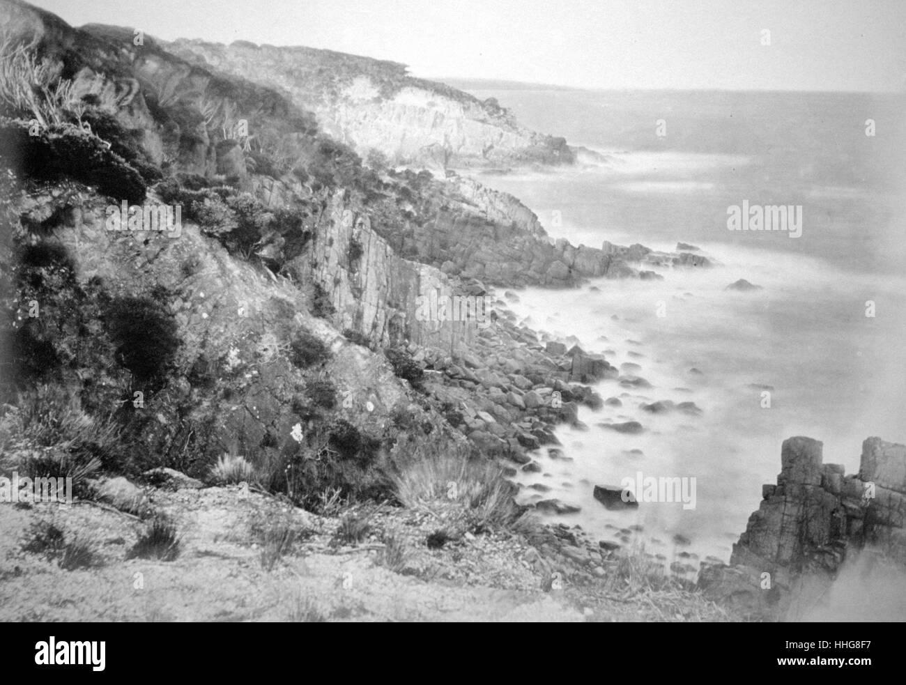 Coast at Port Jackson, Australia 1885 - Stock Image