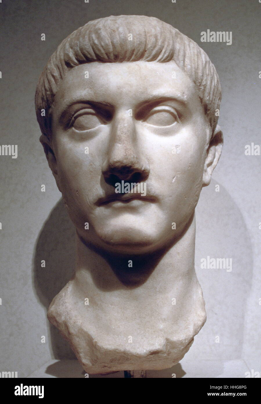 Tiberius (42 BC – 37 AD); Roman Emperor from 14 AD to 37 AD. - Stock Image