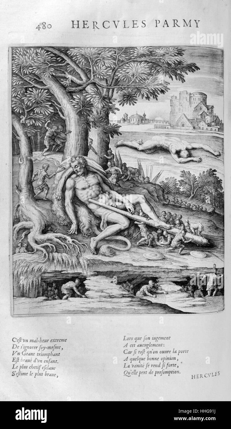 According to Greek mythology, Pygmies once encountered Heracle - Stock Image